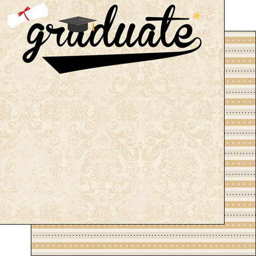 Scrapbook Customs Graduation 12x12 Paper: Graduation Swish