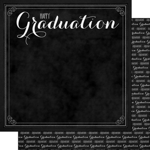 Scrapbook Customs Graduation 12x12 Paper: Happy Graduation