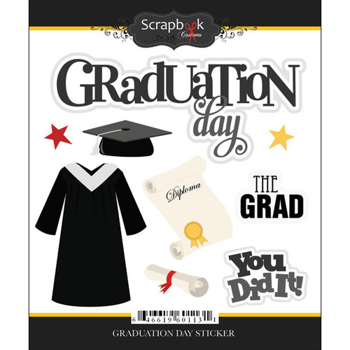 Scrapbook Customs Sticker: Graduation Day
