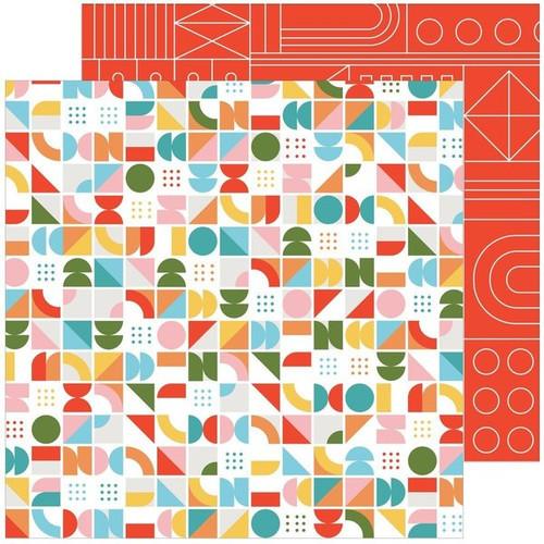 Pinkfresh Studio Some Days 12x12 Paper: Turning Circles