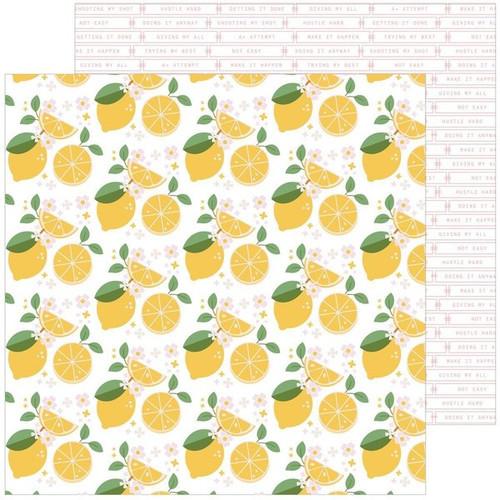 Pinkfresh Studio Some Days 12x12 Paper: Make Lemonade