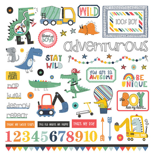 PhotoPlay Little Boys Have Big Adventures Element Sticker
