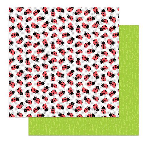 PhotoPlay Fern & Willard 12x12 Paper: Ladybug
