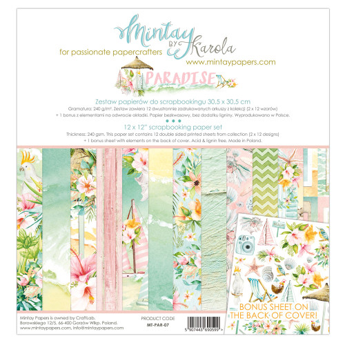 Mintay Papers Paradise 12x12 Paper Kit