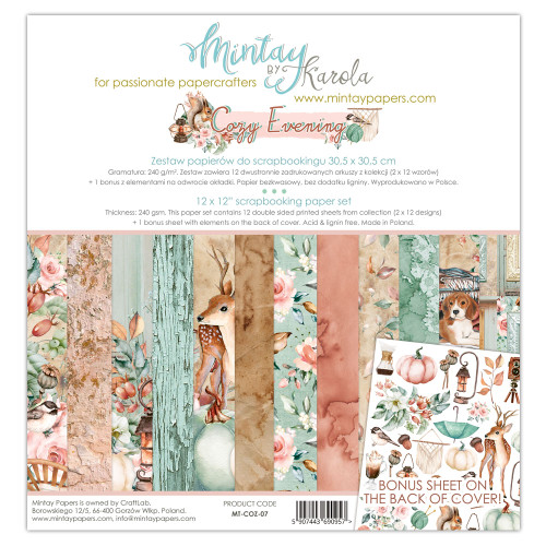 Mintay Papers Cozy Evening 12x12 Paper Kit