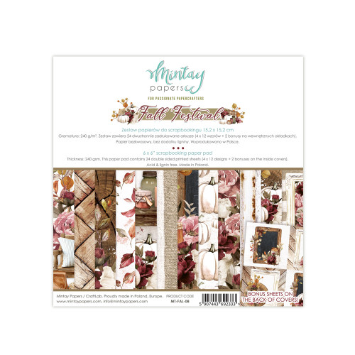 Mintay Papers Fall Festival 6x6 Paper Pad