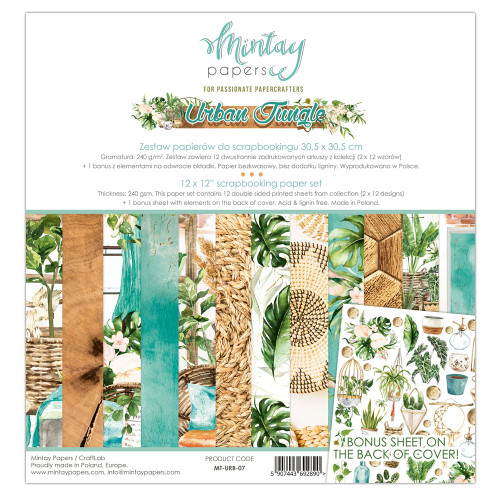 Mintay Papers Urban Jungle 12x12 Paper Kit