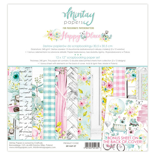 Mintay Papers Happy Place 12x12 Paper Kit