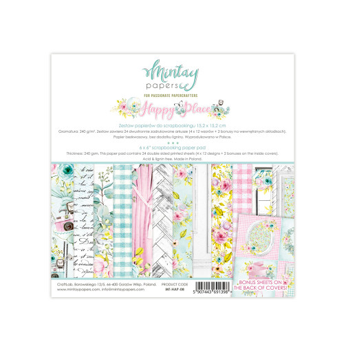 Mintay Papers Happy Place 6x6 Paper Pad