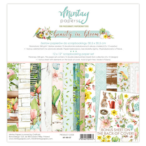 Mintay Papers Beauty In Bloom 12x12 Paper Kit