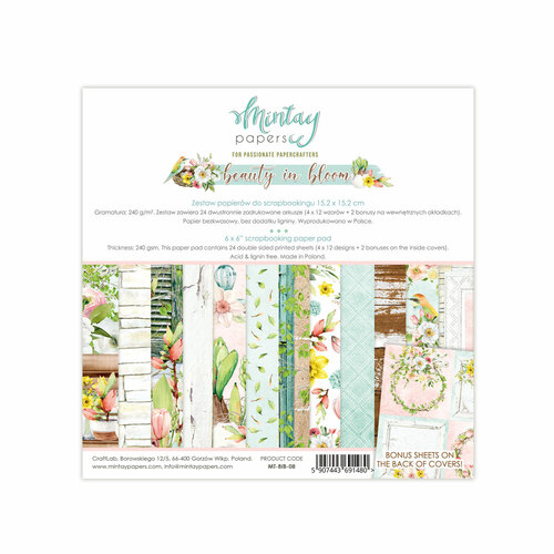 Mintay Papers Beauty In Bloom 6x6 Paper Pad