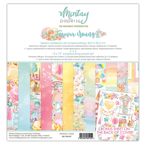 Mintay Papers Forever Young 12x12 Paper Kit