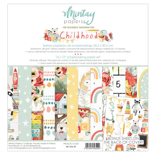 Mintay Papers Childhood 12x12 Paper Kit