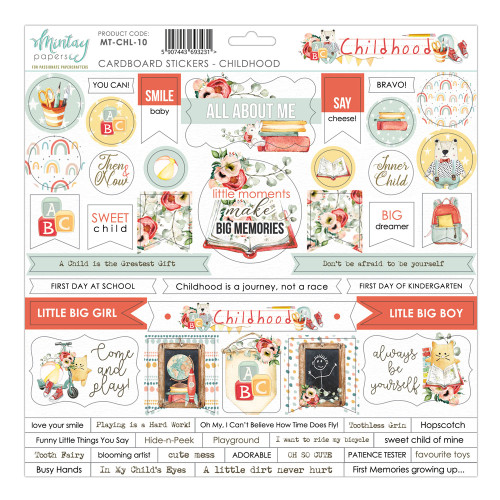 Mintay Papers Childhood 12x12 Sticker