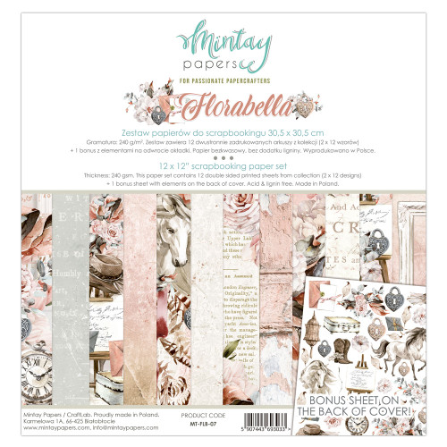 Mintay Papers Florabella 12x12 Paper Kit