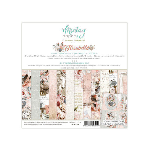 Mintay Papers Florabella 6x6 Paper Pad