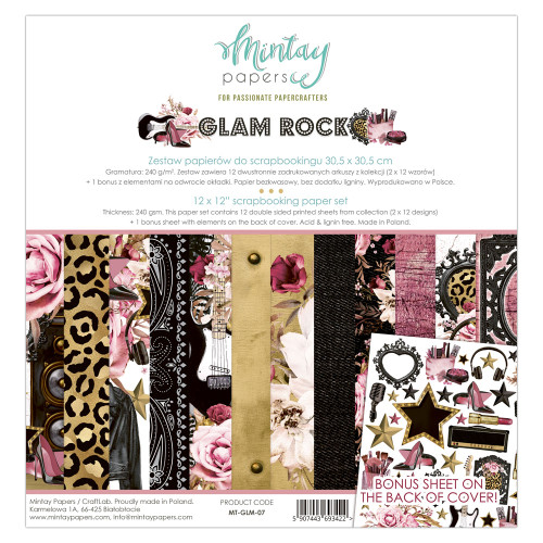 Mintay Papers Glam Rock 12x12 Paper Kit