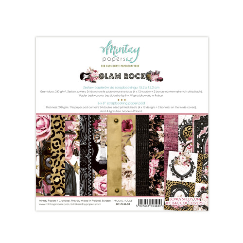Mintay Papers Glam Rock 6x6 Paper Pad