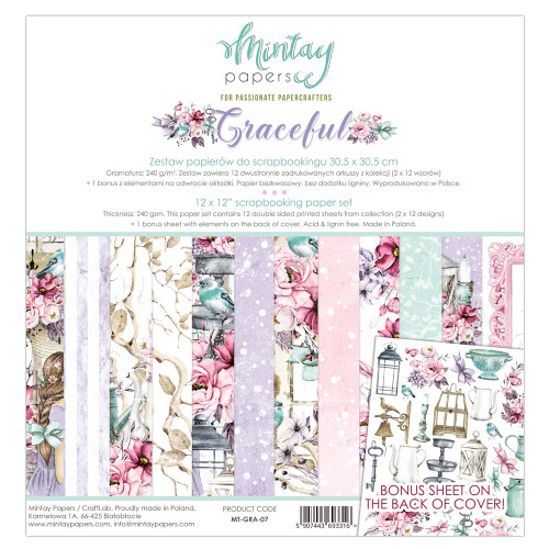 Mintay Papers Graceful 12x12 Paper Kit