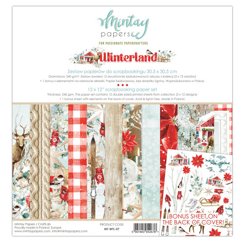 Mintay Papers Winterland 12x12 Paper Kit