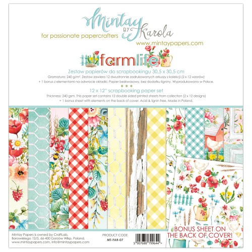 Mintay Papers Farmlife 12x12 Paper Kit