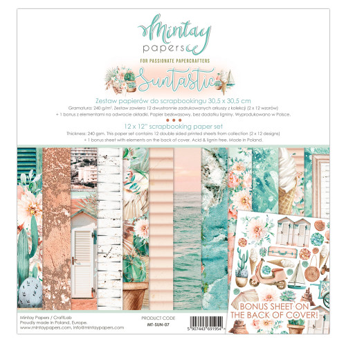 Mintay Papers Suntastic 12x12 Paper Kit