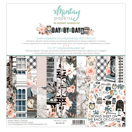 Mintay Papers Day by Day 12x12 Paper Kit