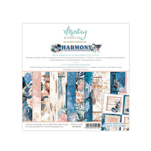 Mintay Papers Harmony 6x6 Paper Pad