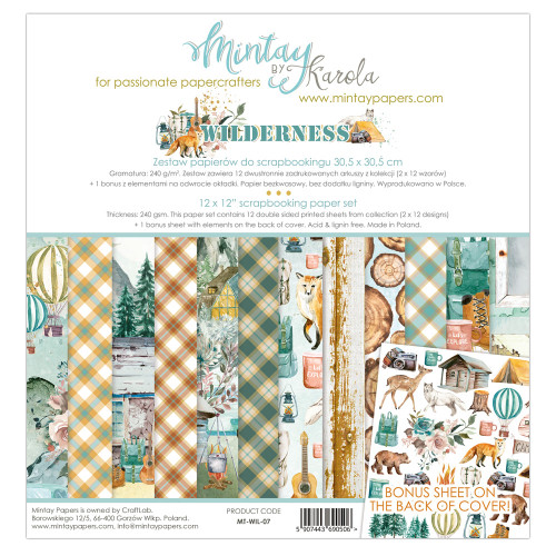 Mintay Papers Wilderness 12x12 Paper Kit