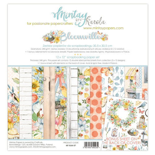 Mintay Papers Bloomville 12x12 Paper Kit