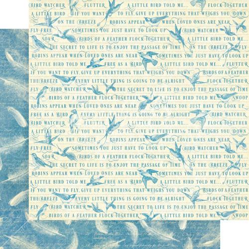 Graphic 45 Bird Watcher 12x12 Paper: Feather Your Nest