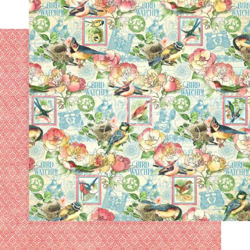 Graphic 45 Bird Watcher 12x12 Paper: Just Breathe