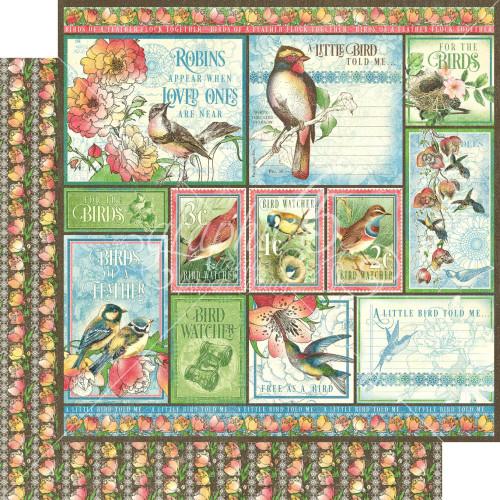 Graphic 45 Bird Watcher 12x12 Paper: Look Up!
