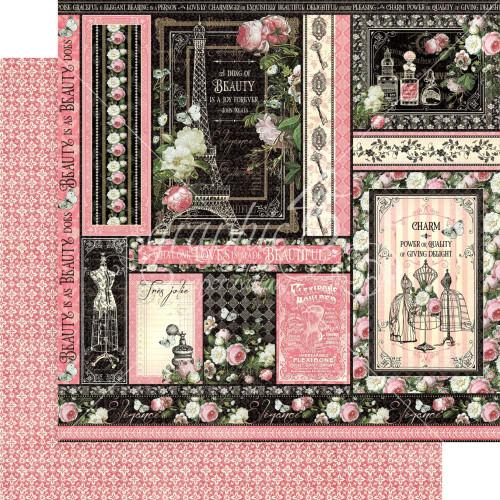 Graphic 45 Elegance 12x12 Paper: Delightful