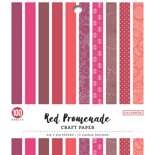 AC Colorbok Single-Sided 6x6 Paper Pad: Red Promenade