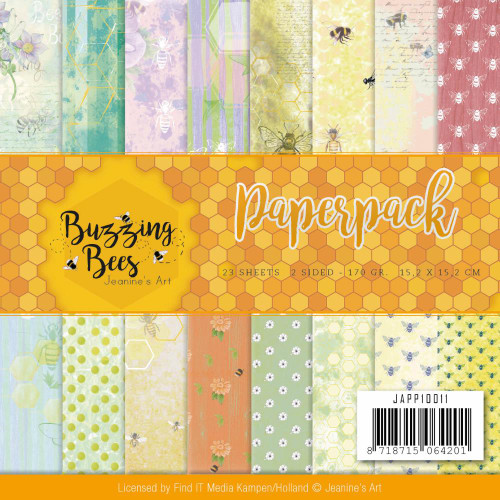 Find-It Media 6x6 Paper Pad: Buzzing Bees