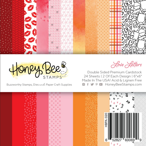 Honey Bee Stamps 6x6 Paper Pad: Love Letters