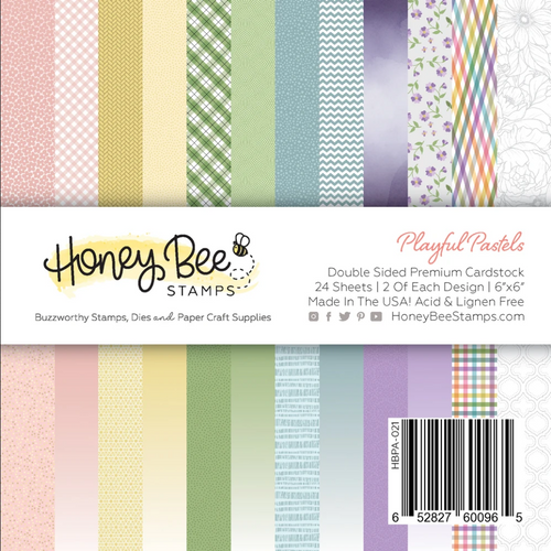 Honey Bee Stamps 6x6 Paper Pad: Playful Pastels