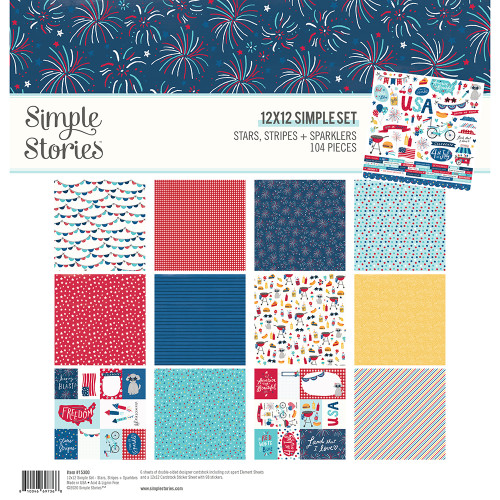 Simple Stories Stars, Stripes + Sparklers Collection Kit