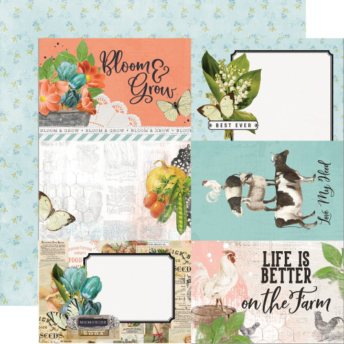 Simple Stories Simple Vintage Farmhouse Garden 12x12 Paper: 4x6 Elements