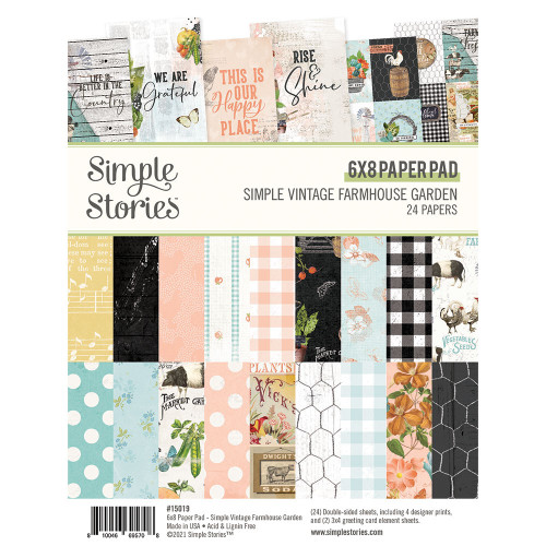 Simple Stories Simple Vintage Farmhouse Garden 6x8 Pad