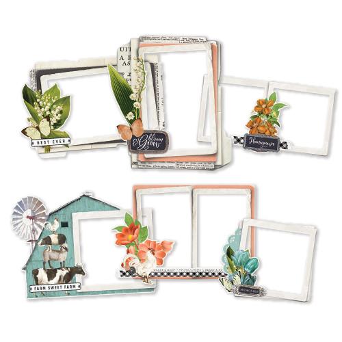 Simple Stories Simple Vintage Farmhouse Garden Chipboard Frames