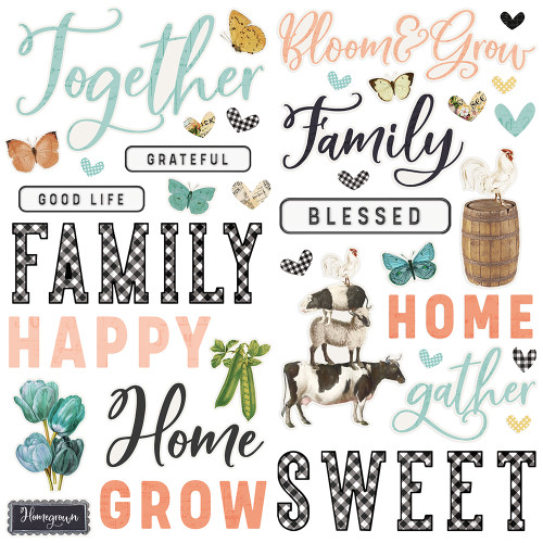 Simple Stories Simple Vintage Farmhouse Garden Foam Stickers