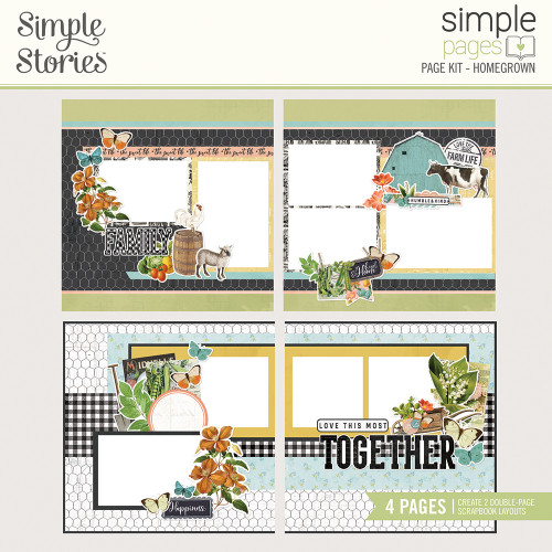 "Simple Stories ""Simple Pages"" Page Kit: Homegrown"