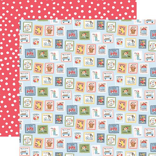 Carta Bella Summer 12x12 Paper: Summer Stamps