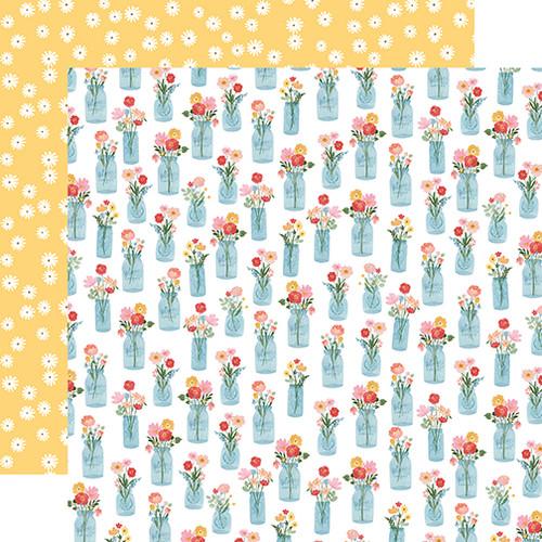 Carta Bella Summer 12x12 Paper: Floral Jars