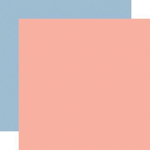 Carta Bella Summer 12x12 Paper: Pink / Blue (Coordinating Solid)