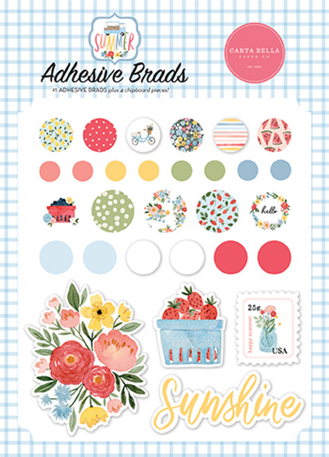 Carta Bella Summer Adhesive Brads
