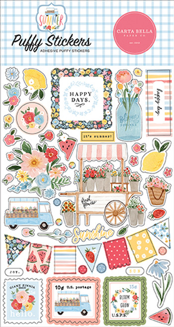 Carta Bella Summer Puffy Stickers