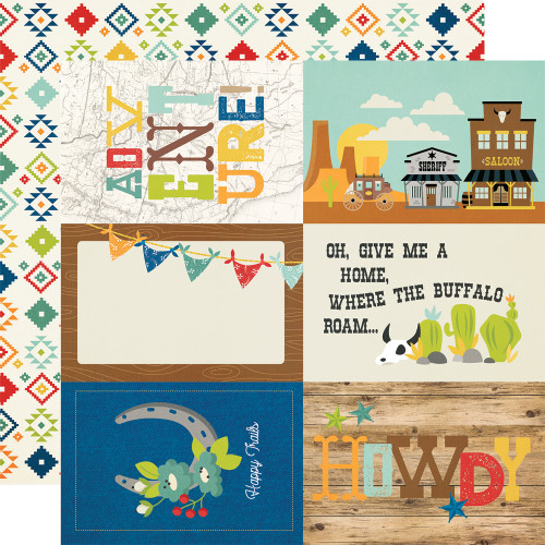 Simple Stories Howdy! 12x12 Paper: 4x6 Elements